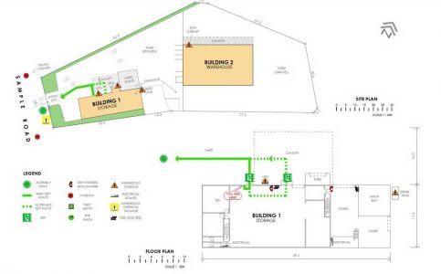REALSERVE EXAMPLE OF A HSWA SITEPLAN FOR AN INDUSTRIAL PROPERTY IN AUCKLAND